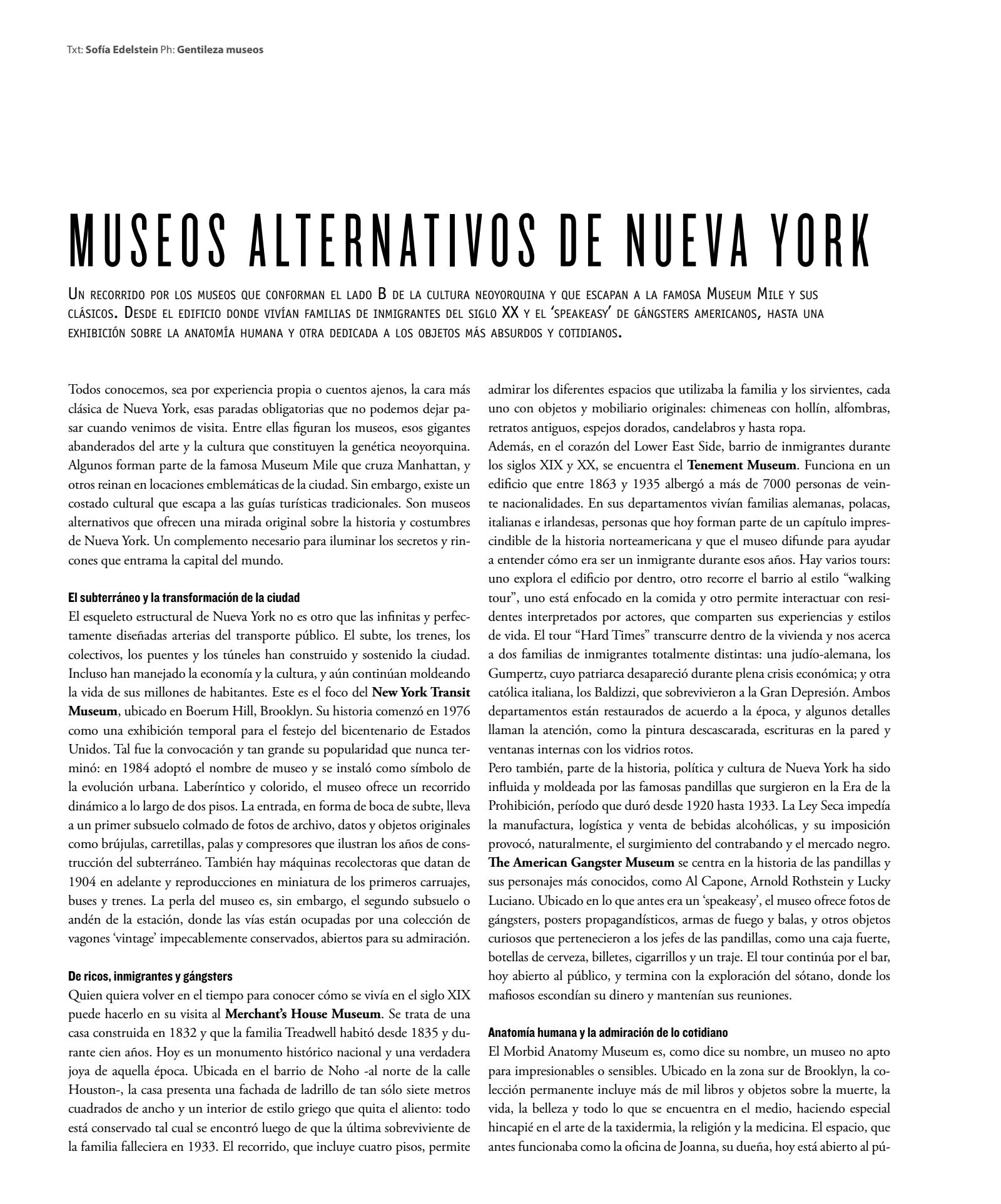 Museos alternativos en Nueva York